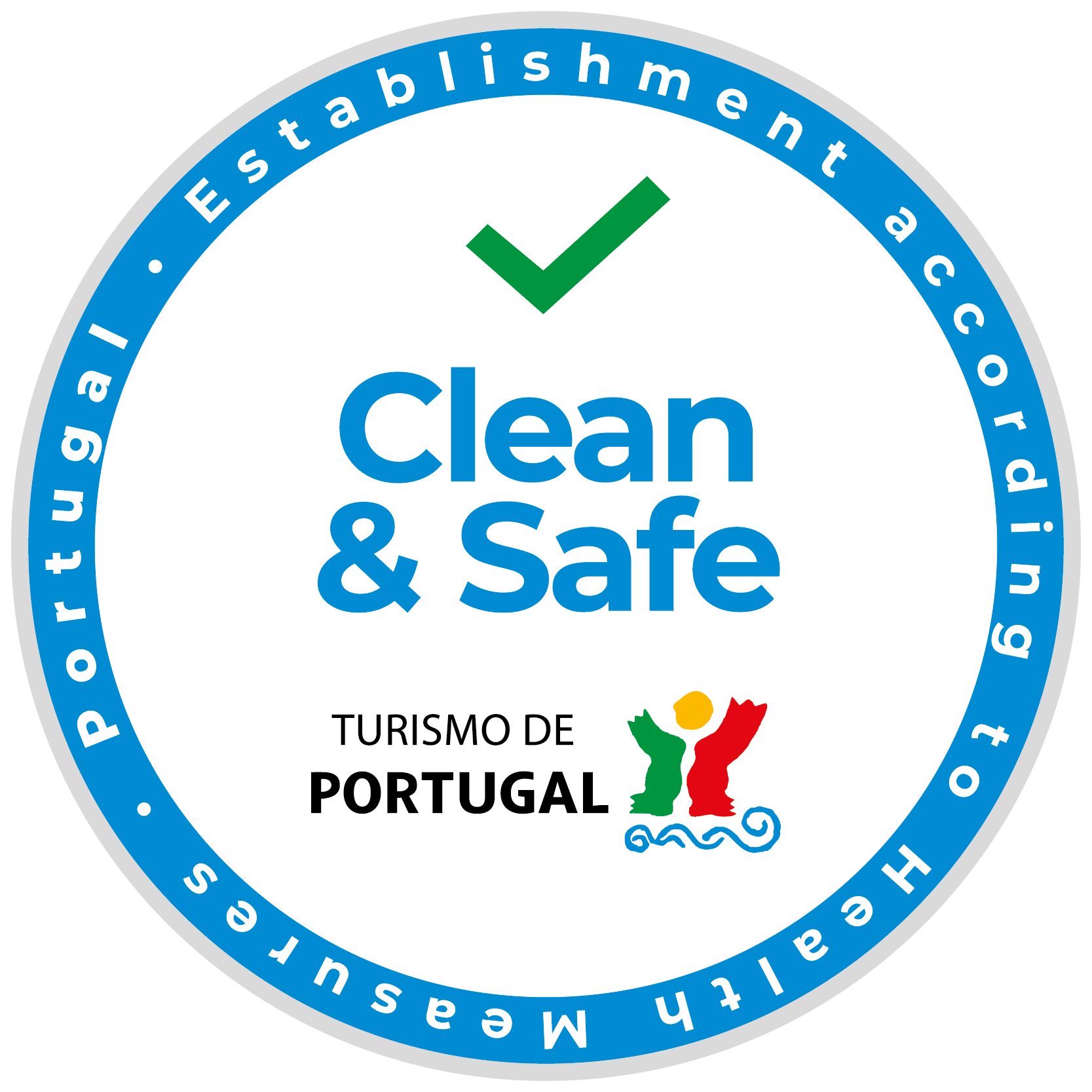 Turismo de Portugal clean and safe logo
