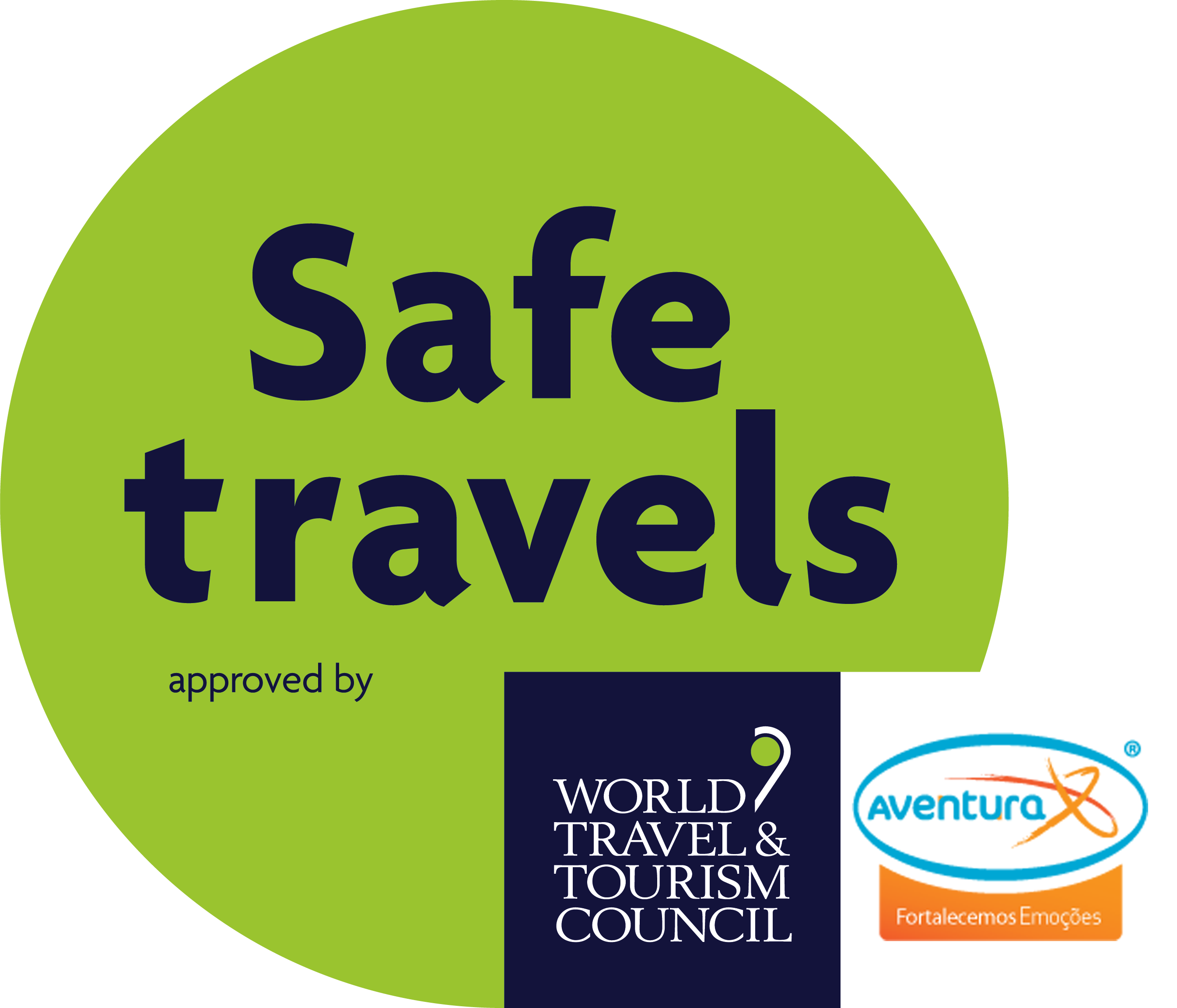 WTTC safe travels logo